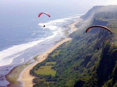 Paragliding over Nusa Dua or Pandawa beaches